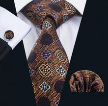 www.mensswaggerapparel.com Quick shipping low prices men's ties & bow ties Barry Wang New Men`s Tie Silk Jacquard Woven Gravata Necktie Hanky Cufflinks Set For Men Business Wedding Party