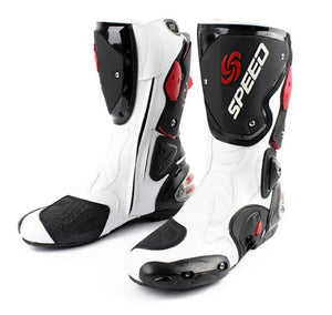 www.mensswaggerapparel.com Quick shipping low prices Biker Apparel & Accessories Microfiber Leather Motorcycle Men's Boots