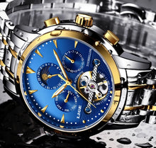 www.mensswaggerapparel.com Quick shipping low prices Men's Watches & Accessories LIGE Automatic Mechanical Tourbillon Watch Calendar Moon Phase Watches