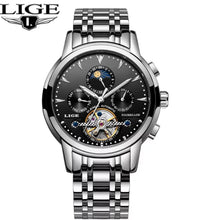MSA Signature LIGE Automatic Mechanical Tourbillon Watch Calendar Moon Phase Watches