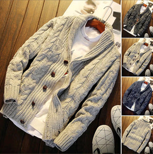 MSA Signature Men Sweater Autumn Knitted Solid Cardigan Knitwear Casual