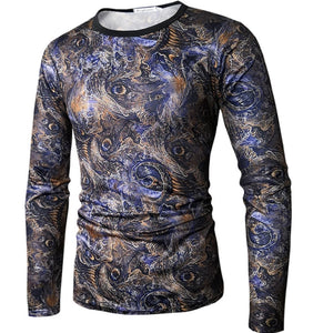 www.mensswaggerapparel.com Quick shipping low prices men's sweaters Long Sleeve Classic 3D Print Shirt O-Neck M-XXXL