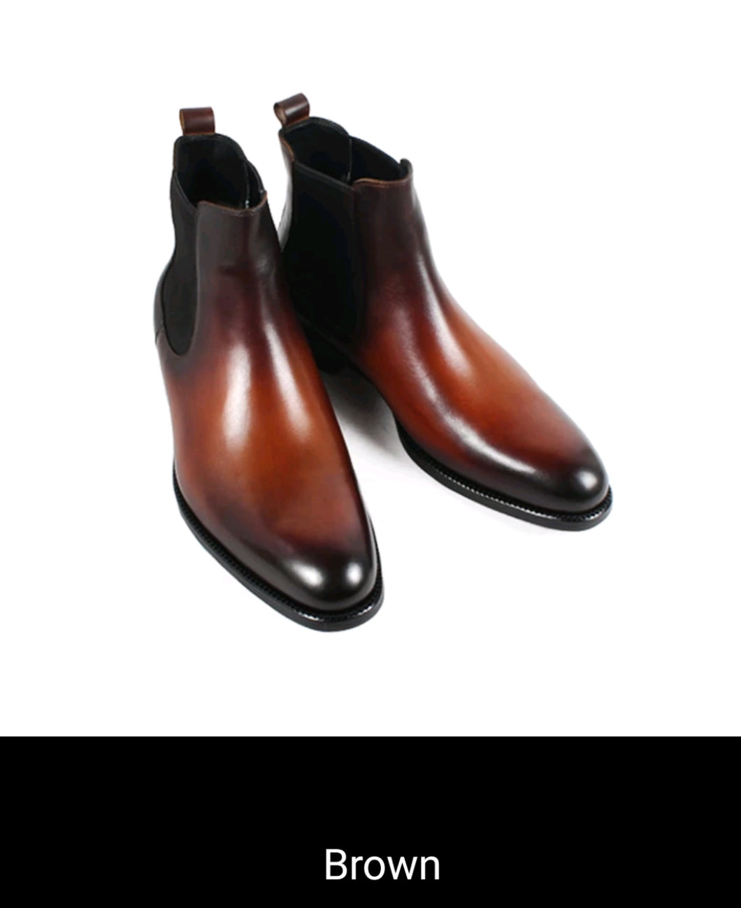 men's boots & dress shoes Handmade Vintage Dress Boot Classic slip on boots.