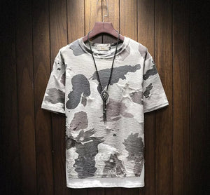 www.mensswaggerapparel.com Quick shipping low prices Mens T-Shirt & Hoodie Men Short Sleeve Camouflage T-shirt camisa masculina Men Hip Hop Streetwear Top Tees Fashion Loose Cotton Tshirt 5XL