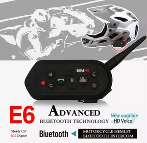 www.mensswaggerapparel.com Quick shipping low prices men's Gifts & Gadgets Bluetooth Motorcycle Accessories Helmet Headset 6 Risers Intercom 1200m VOX Microphone Speaker Metal Clamps