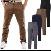 www.mensswaggerapparel.com Quick shipping low prices Men's Jeans & Pants Classic Chinos Pants Men Cargo Pants Khaki Slim Fit Trousers Casual Pants Button