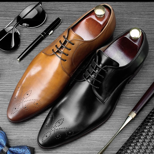 www.mensswaggerapparel.com Quick shipping low prices men's boots & dress shoes. Italian Carved Derby Man Formal Dress Shoes Genuine Leather