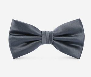 MSA Signature Bowties Soild Color Double Butterfly Men Bow Ties Wedding Business Formal Neckties Grey with Luxury Gift Box