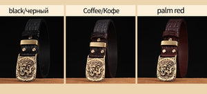 MSA Signature men high quality genuine leather belt luxury designer cow skin fashion Strap male Jeans