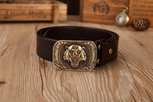 www.mensswaggerapparel.com Quick shipping low prices men's Leather Belts & Leather Bags  full grain leather belts mens high quality belt size 130 cm jeans luxury solid brass tiger buckle for men 44