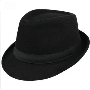 www.mensswaggerapparel.com Quick shipping low prices men's Hat's Brim Caps fedoras Floppy Jazz hat Vintage Popular wool caps Black
