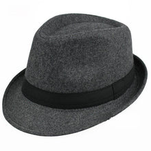 www.mensswaggerapparel.com Quick shipping low prices men's Hat's Brim Caps fedoras Floppy Jazz hat Vintage Popular wool caps Gray