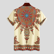 www.mensswaggerapparel.com Quick shipping low prices Traditional Attire African Dashiki Shirt Men Short Sleeve Ethnic Style Printed Summer Zipper Casual Tops Traditional Shirts Clothes
