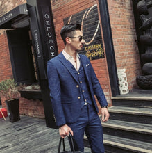 www.mensswaggerapparel.com Quick shipping low price men's vest suit & suit jackets  Jacket + Vest + Pants )Formal Business Suit 3 Piece Set / Men's High-end Casual Suits