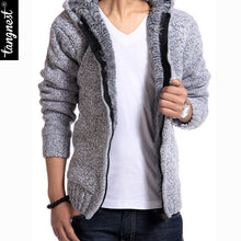 www.mensswaggerapparel.com Quick shipping low prices men's sweaters Autumn Thick Hooded Sweaters Cardigan Light Gray