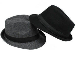 www.mensswaggerapparel.com Quick shipping low prices men's Hat's Brim Caps fedoras Floppy Jazz hat Vintage Popular wool caps Black/Gray