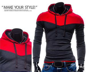 www.mensswaggerapparel.com Quick shipping low prices men's sweaters Hoodie Patchwork Two Colors