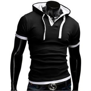 www.mensswaggerapparel.com Quick shipping low prices men's sweaters Short Sleeve Hooded Tops
