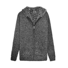 www.mensswaggerapparel.com Quick shipping low prices men's sweaters Autumn Thick Hooded Sweaters Cardigan Dark Gray