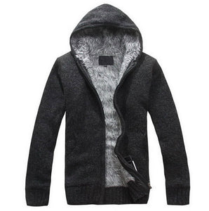 www.mensswaggerapparel.com Quick shipping low prices men's sweaters Autumn Thick Hooded Sweaters Cardigan Black