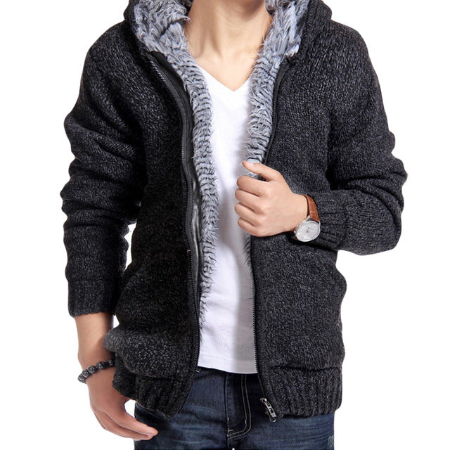 www.mensswaggerapparel.com Quick shipping low prices men's sweaters cardigan jacket Casual Slim Black