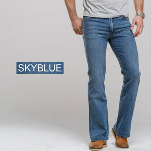 www.mensswaggerapparel.com Quick shipping low prices Men's Jeans & Pants jeans boot cut leg slightly flared slim fit famous brand blue black male jeans designer classic denim Jeans