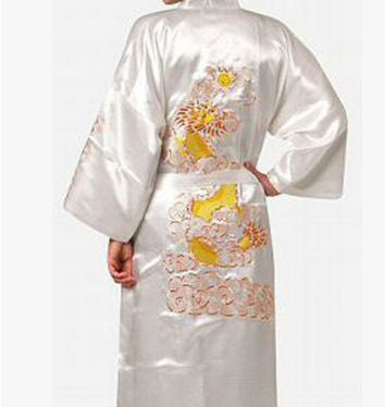 New Traditional Japanese Yukata Men's Japanese Pajamas Men's Sleepwear Lounge Home Clothing Men's Satin Robe Kimono Bath Gown