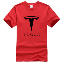 www.mensswaggerapparel.com Quick shipping low prices Mens T-Shirt Tesla Men T-Shirts Short Sleeve Round Neck Ringer Letter Printed cotton Male Tees Casual Boy t-shirt Tops many colors