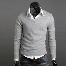 www.mensswaggerapperal.com Quick shipping low prices men's sweaters Thick Plush Wool California V-neck Sweater Light