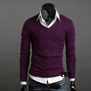 www.mensswaggerapperal.com Quick shipping low prices men's sweaters Thick Plush Wool California V-neck Sweater Purple