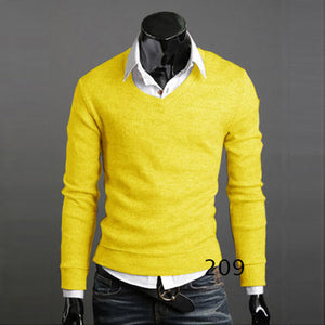 www.mensswaggerapperal.com Quick shipping low prices men's sweaters Thick Plush Wool California V-neck Sweater Yellow