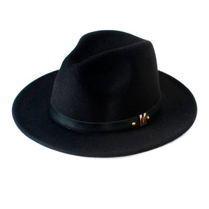 www.mensswaggerapparel.com Quick shipping low prices men's Hat's  Wool  Black  Fedora Hat Woolen Wide Brim Jazz Hat Vintage Panama Sun Top Hat 20