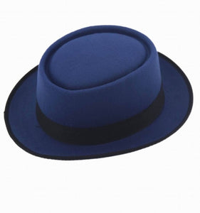 www.mensswaggerapparel.com Quick shipping low prices men's Hat's Classic Felt Fedora Hat Upturn Masculino Black Ribbon Band Panama hats 25