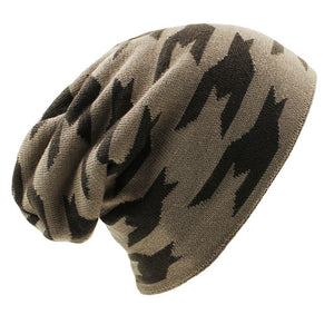 www.mensswaggerapparel.com Quick shipping low prices men's Hat'sWinter Hat Caps Faux Fur Warm Baggy Knitted Hat Men Beanies Knit Skullies Khaki