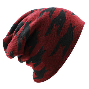www.mensswaggerapparel.com Quick shipping low prices men's Hat'sWinter Hat Caps Faux Fur Warm Baggy Knitted Hat Men Beanies Knit Skullies wine Red