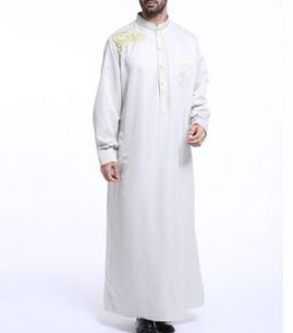 www.mensswaggerapparel.com Quick shipping low prices Traditional Attire African men's bazin clothing muslim islamic abaya traditional african clothing african Robes