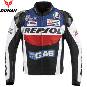 www.mensswaggerapparel.com Quick shipping low prices Biker Apparel & Accessories Motorcycle Men's Protective Jackets Riding Racing Metal Shoulder Jackets Motorbike Apparel Oxford REPSOL Clothing