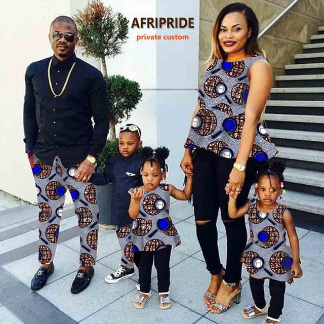 Msa Signature African Couple Clothes For Women With Kids Skirt