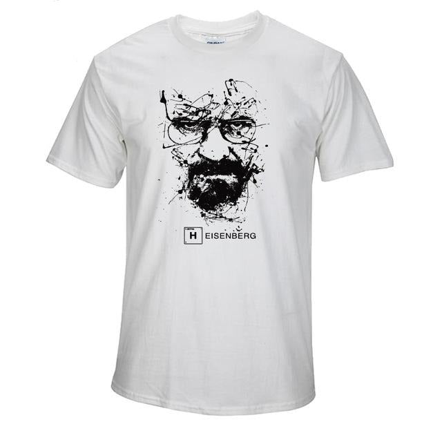 www.mensswaggerapparel.com Quick shipping low prices Mens T-Shirt Walter White Tops Cotton O-Neck Heisenberg White