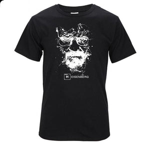 www.mensswaggerapparel.com Quick shipping low prices Mens T-Shirt Walter White Tops Cotton O-Neck Heisenberg Black