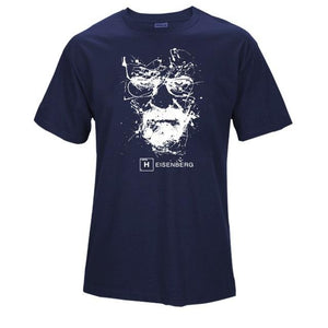 www.mensswaggerapparel.com Quick shipping low prices Mens T-Shirt Walter White Tops Cotton O-Neck Heisenberg Blue
