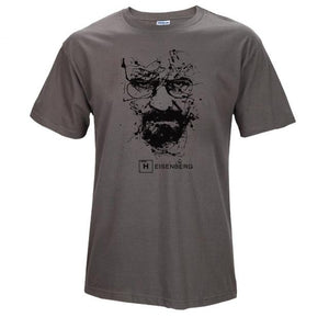 www.mensswaggerapparel.com Quick shipping low prices Mens T-Shirt Walter White Tops Cotton O-Neck Heisenberg Gray