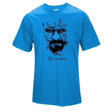www.mensswaggerapparel.com Quick shipping low prices Mens T-Shirt Walter White Tops Cotton O-Neck Heisenberg Sky Blue