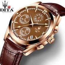 www.mensswaggerapparel.com Quick shipping low prices Men's Watches & Accessories DITA Chronograph Date analog Men's Watch 3 Workable Quartz Sport Military geniune leather strap bracelectrelogio masculino
