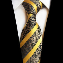 www.mensswaggerapparel.com Quick shipping low prices men's ties & bow ties Tie  8cm Paisley Jacquard Woven Silk Ties Mens Neck Tie Striped Ties for Men Wedding Suit Business Party
