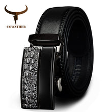 www.mensswaggerapparel.com Quick shipping low prices men's leather belts metal automatic buckle Strap  Black
