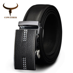 www.mensswaggerapparel.com Quick shipping low prices men's leather belts automatic alloy buckle black color size 34-44