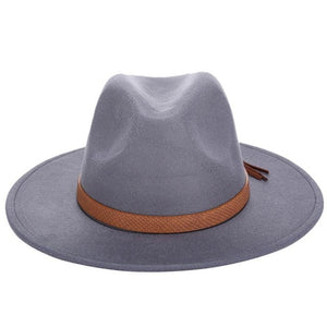 www.mensswaggerapparel.com Quick shipping low prices men's Hat's Autumn Winter  Men Fedora Hat Classical Wide Brim Felt Floppy Cloche Cap Chapeau Imitation Wool Hat