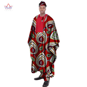 www.mensswaggerapparel.com Quick shipping low prices Traditional Attire African Print Wax Tailored Long Men Loose Plus Size Robe Dashiki Traditional African Men's Clothing