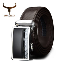 www.mensswaggerapparel.com Quick shipping low prices men's leather belts Automatic Buckle Cowhide Leather belts Fashion Luxury belts for men designer Male strap Waist 30-44 110-130cm